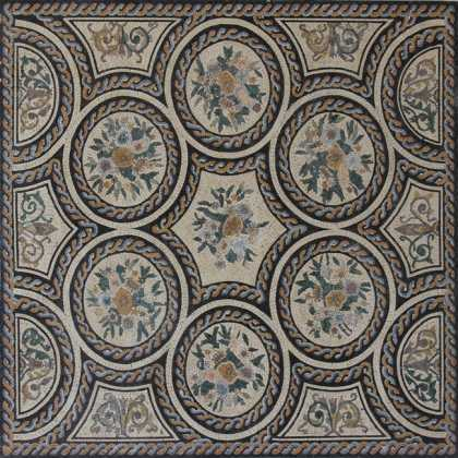 CR1222 Floral Wall Floor Decorative Carpet  Mosaic