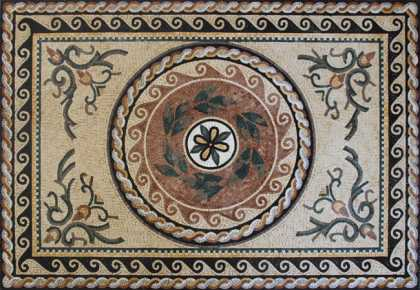 Oriental Design Carpet Floor Mosaic