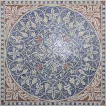 CR1236 Carpet Lotus Traditional Design Marble Mosaic