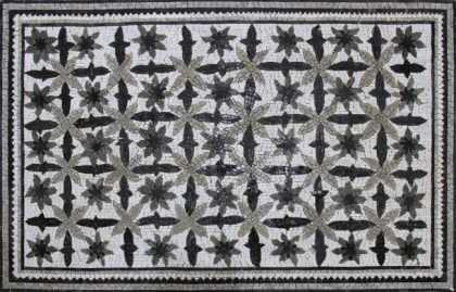 CR1254 Artistic Floral Carpet Grayscale Color  Mosaic