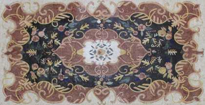 CR1267 Carpet Handmade Floral Home Decor  Mosaic