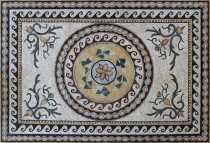 CR1276 Handmade Ancient Design Carpet Roman  Mosaic