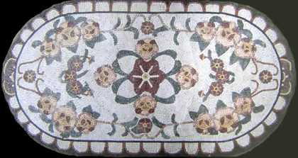 CR130 Colorful floral ovale Mosaic