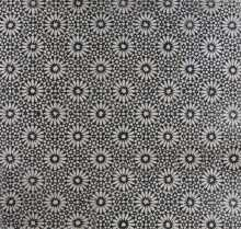 Boho Mosaic Floor Tile Black and Estremoz Creme