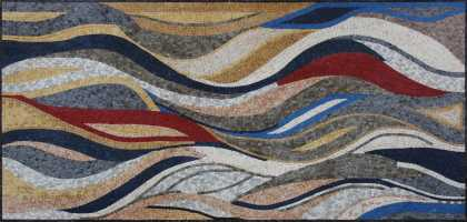 Natural Marble Tesserae Modernized Mosaic Art