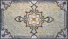 CR139 Refined simple flower geometric design mosaic