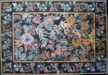CR15 Rich and colorful floral mosaic carpet