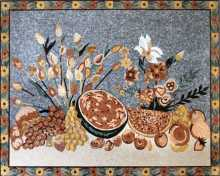 CR154 Beautiful fruit and flowers table Mosaic