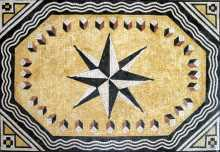 CR173 Black & cream compass star Mosaic
