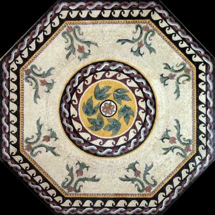 CR187 Beautiful floral octagram carpet Mosaic