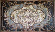 CR193 Artistic floral design mosaic carpet