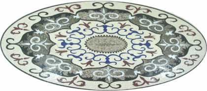 CR204 Oval Majestic Carpet Mosaic