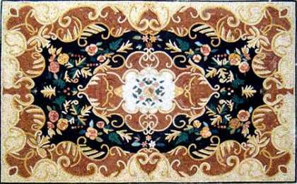 CR245 Bronze Floral Design Mosaic