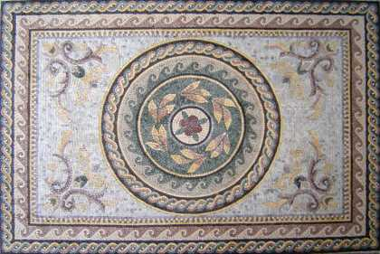 CR25 Faded roman leaves and flowers Mosaic
