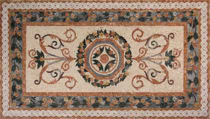 CR251 beautiful salmon pink floral design Mosaic