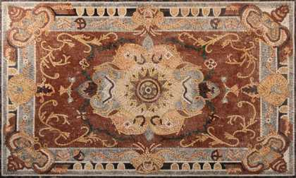 CR304 Handmade Floor Rug Carpet Arabian Style