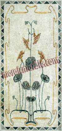CR317 Simple rectangular flower plants Mosaic