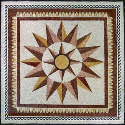 Patio and Garden Compass Mosaic Art