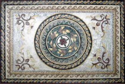 CR40 roman leaves and floral design Mosaic