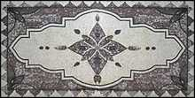 CR46 Silver geometrical design Mosaic