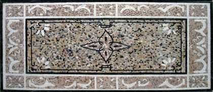 CR48 Dotted floral design mosaic carpet
