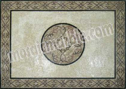 CR492 Simple grey stone carpet Mosaic