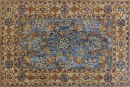 Oriental Rug with Marble Tesserae Mosaic