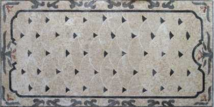 CR50 Grey & black simple  rug Mosaic