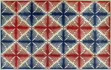 Blue and Red Roman Pattern