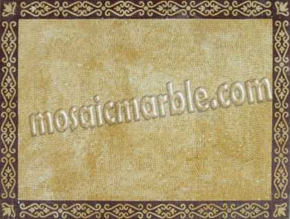 CR565 Simple golden mosaic carpet with border