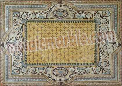 CR573 Artistic light colors  carpet Mosaic