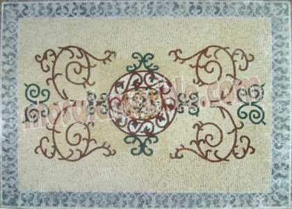 CR586 Pastel design with border art Mosaic