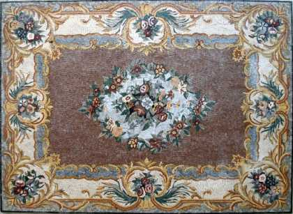 CR63 Beautiful flower assortment mosaic carpet