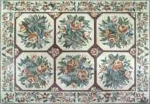 Floral Mosaic Floor Carpet