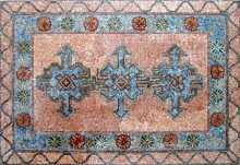 CR69 arabian style tiles with floral border mosaic