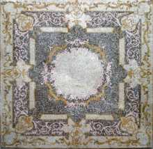 CR72 Silver & gold floral square mosaic