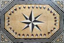 CR78 Black & cream compass star Mosaic