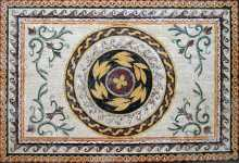 CR95 Roman leaves & flowers  carpet Mosaic