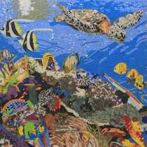 Sea Life Ocean Deep Tropical Mosaic