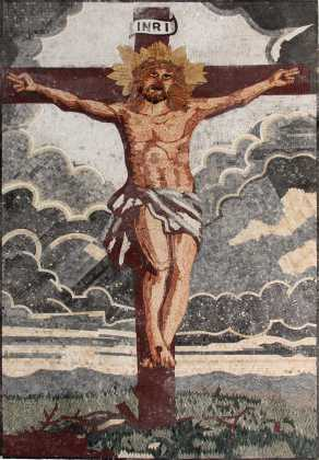 The Crucifixion of Jesus Christ Religious Wall Mosaic