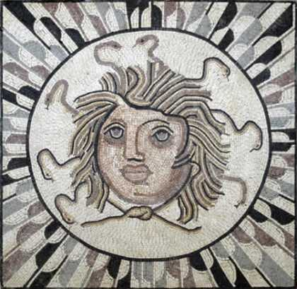 FG104 Head Of Medusa Mosaic