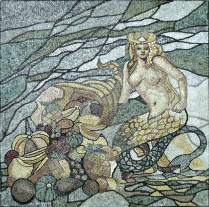 Mermaid Stained Glass Effect Mosaic