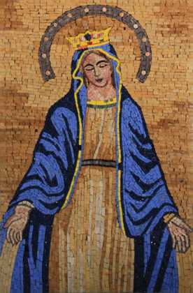 The Blessed Virgin Mary Religious Wall Art Mosaic