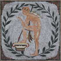 Nude Man Thinking Mosaic