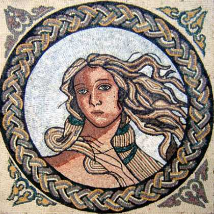Detail from the Birth of Venus Square Mosaic