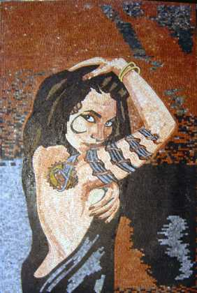 Tattooed Girl Mosaic