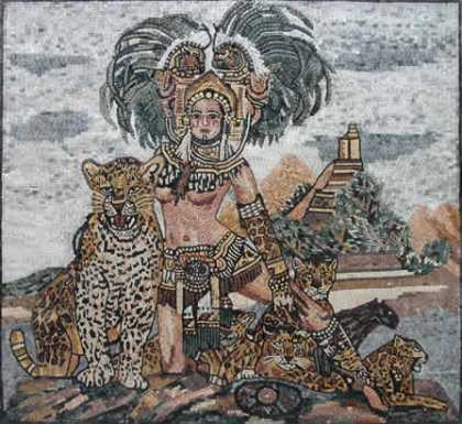 Karl Bang Lady with Leopards Mosaic