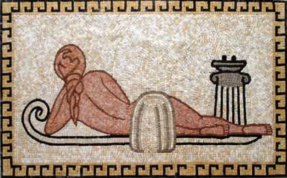 Nude on Bed Mosaic