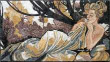 Empress in the Garden Mosaic