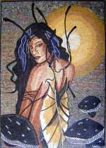 FG15 Butterfly Woman Mosaic